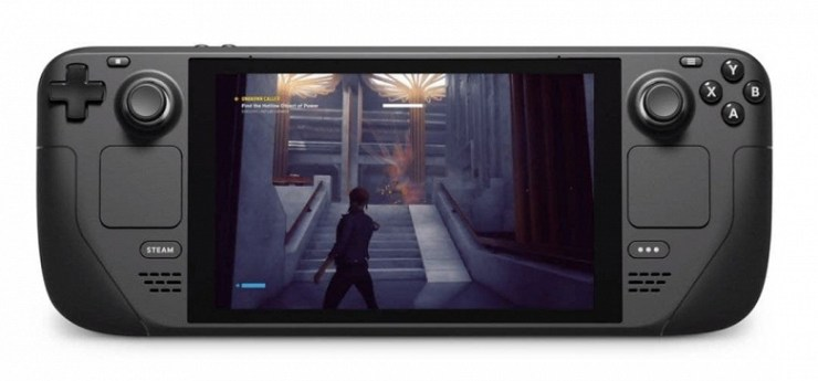 The Nintendo Switch has a worthy competitor.  AMD Steam Deck 7 '' Game Console Revealed