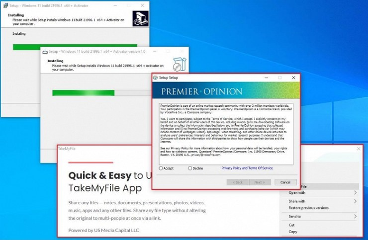 Caution: Trojans and adware spread under the guise of Windows 11