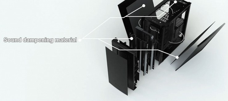 Up to seven 140mm fans can be installed in the SilverStone Seta Q1 computer case