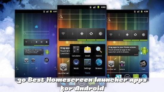 30 Best Homescreen launcher apps for Android