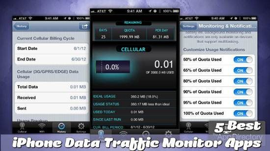 4 Best iPhone Data Traffic Monitor Apps