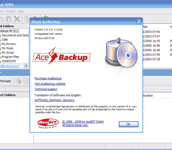 AceBackup Free Backup software for Windows, Mac, and Linux - Best Of