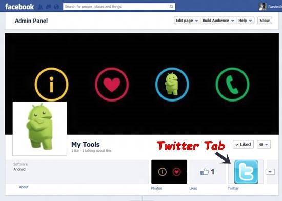 Add Twitter Tab to Facebook Fan Page 7