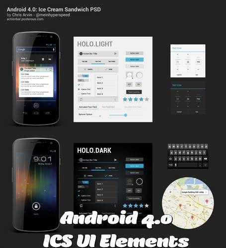 Android 4.0 ICS UI Elements