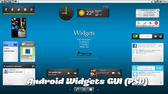 Android Widgets GUI (PSD)