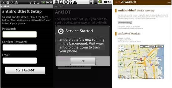 AntiDroidTheft 9 Android Tracking Apps for Find Lost Android smartphone