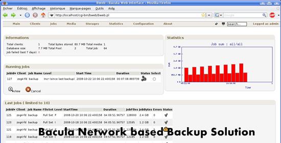 Bacula Network based Backup
