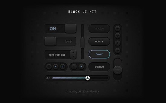Black UI Kit by Jonathan Moreira
