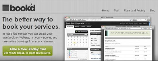 Book'd Top 16 online appointment scheduling software