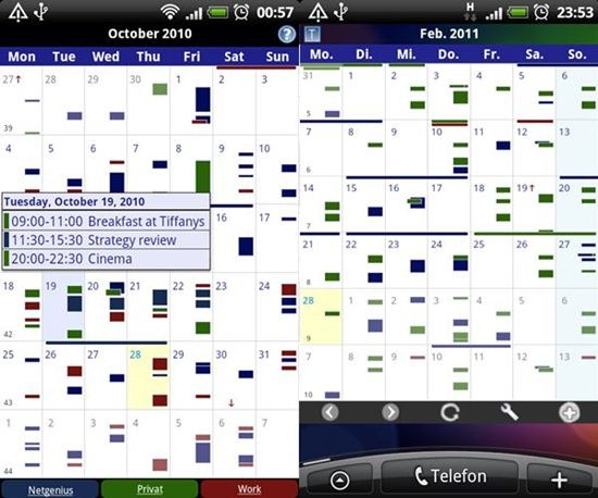 Business Calendar Android