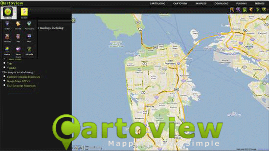 CartoView - JavaScript web mapping framework