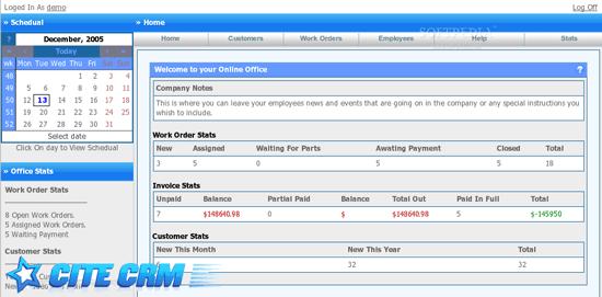 Cite CRM – PHP/MySQL based Customer Relations Management