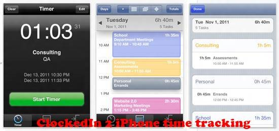 ClockedIn 2 8 best iPhone Apps for Tracking Time on Projects