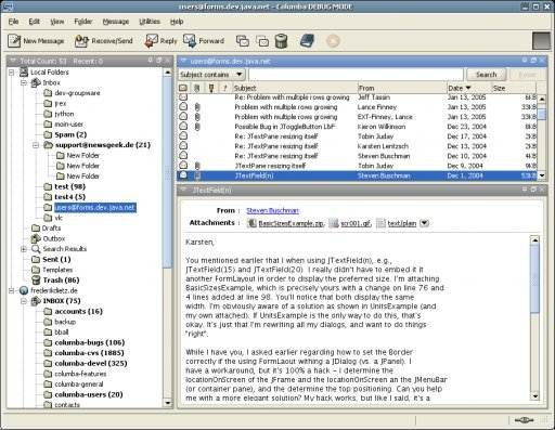 Columba email client