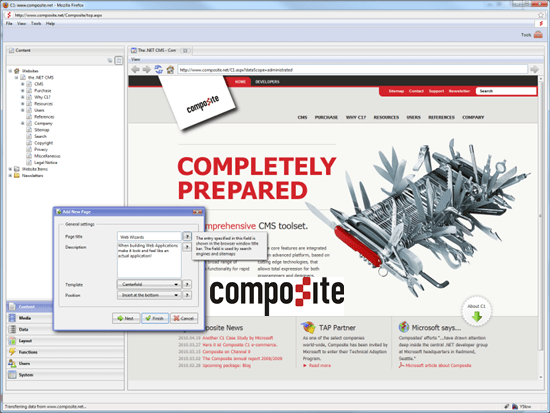 Composite C1 - .net 4 based cms