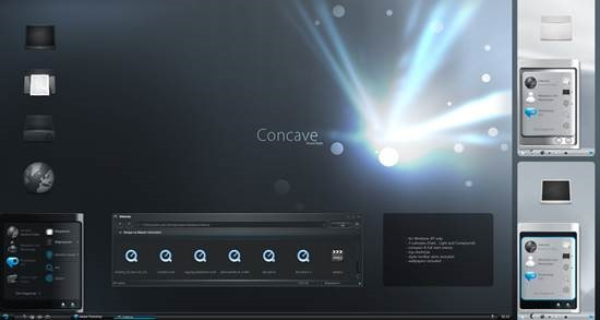 Concave_VS 55 most Beautiful free Window XP Themes and Visual Styles
