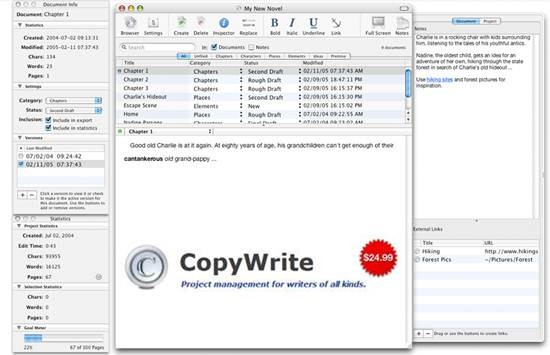 CopyWrite - Project management for writers