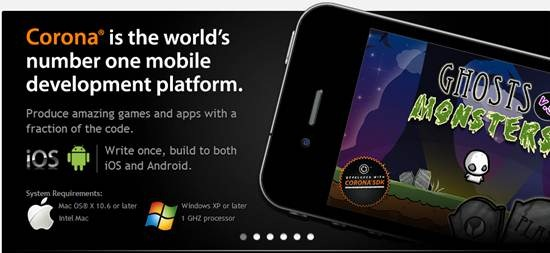 Corona Mobile Apps development platform