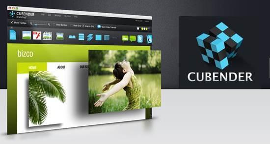 Cubender flash website builder