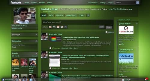 Dark Shiny Green, transparency theme