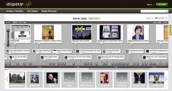 Dipity timeline 6 best online digital timeline creator
