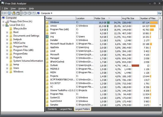 DiskAnalyzer 7 Best Free Disk Space Analyzer for Windows