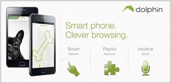Dolphin Browser HD - Android Mobile browser with multi touch Gestures support