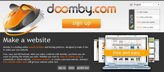 Doomby free website builder