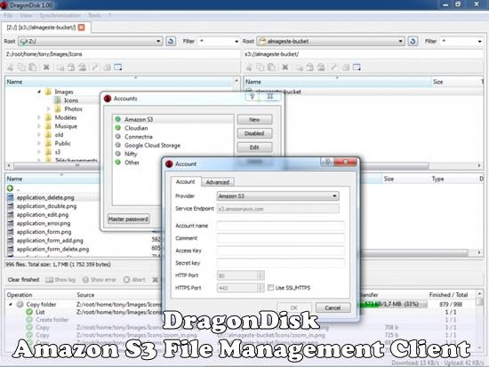 Amazon S3 File Management Client - DragonDisk