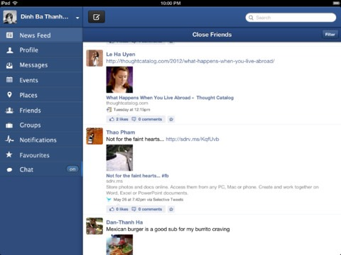 Facebook Client for ipad - PIca