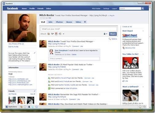 Facedesk desktop apps for facebook