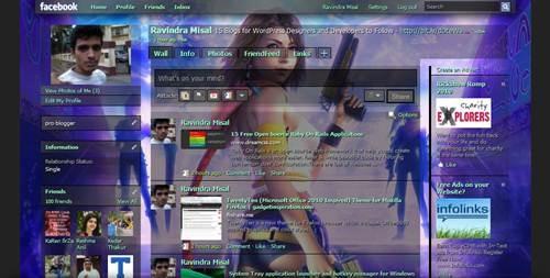 Final Fantasy X2 facebook theme