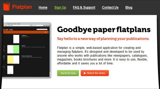 FlatPlan - online tool for creating and managing flatplans