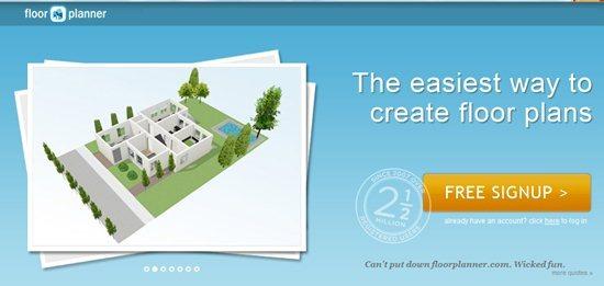 Floorplanner interior design software
