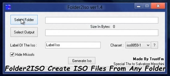 Folder2ISO - Create ISO Files From Any Folder