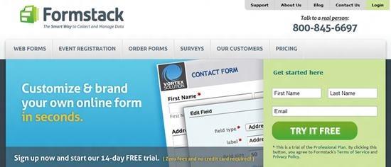 Formstack web form creator Top 13 online Form Building Apps