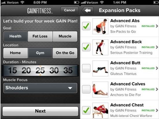 GAIN Fitness Top 6 Health Related iPhone Apps