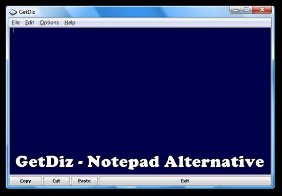 GetDiz - Notepad Alternative