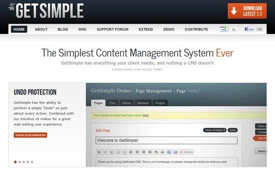 GetSimple XML CMS
