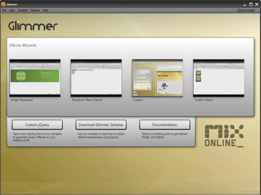 jQuery Interactive Design Tool - Glimmer