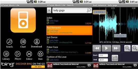 Gtunes Music lite 7 useful Music Downloading Apps for Android