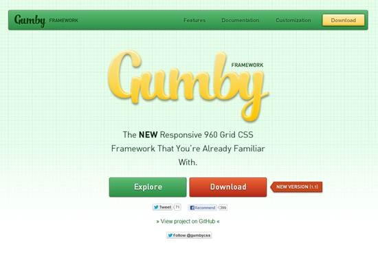 Gumby Responsive 960 Grid CSS Framework