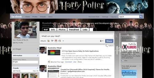 Harry Potter Theme for Facebooj