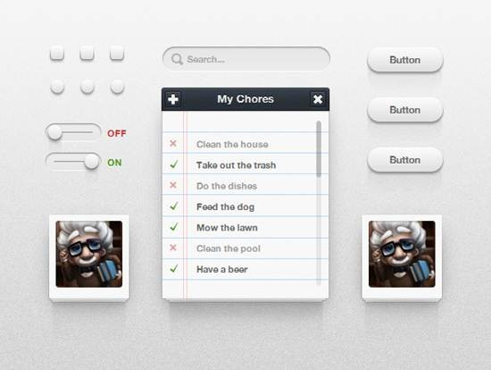 Icon Deposit CSS3 UI Kit Top 12 Free CSS UI Toolkits