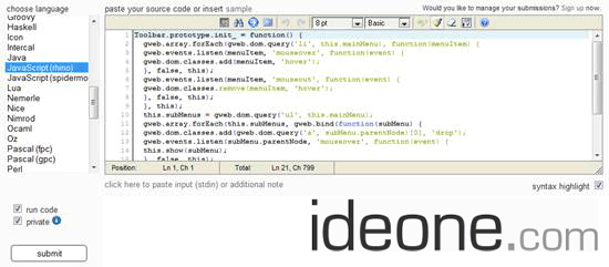 Ideone-online-compiler-and-debugging-tool