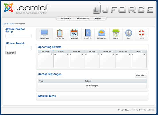 JForce - project and task management tool for Joomla