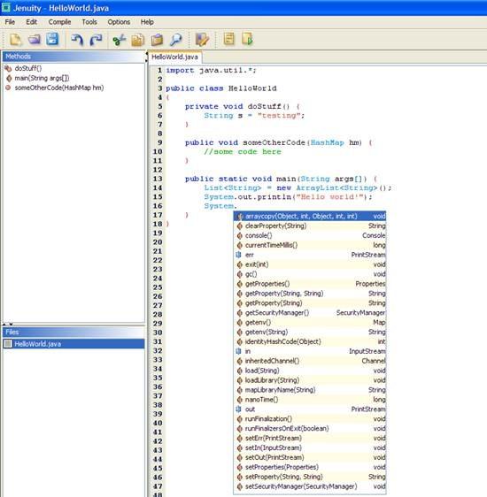 Jenuity IDE – Lightweight integrated Development platform for Java
