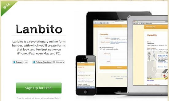 Lanbito mobile friendly forms Top 13 online Form Building Apps