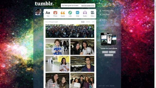 Lights in space 49 Useful Tumblr dashboard theme for Tumblr User