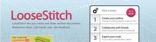 LooseStitch Online Outliner and brainstorming tool